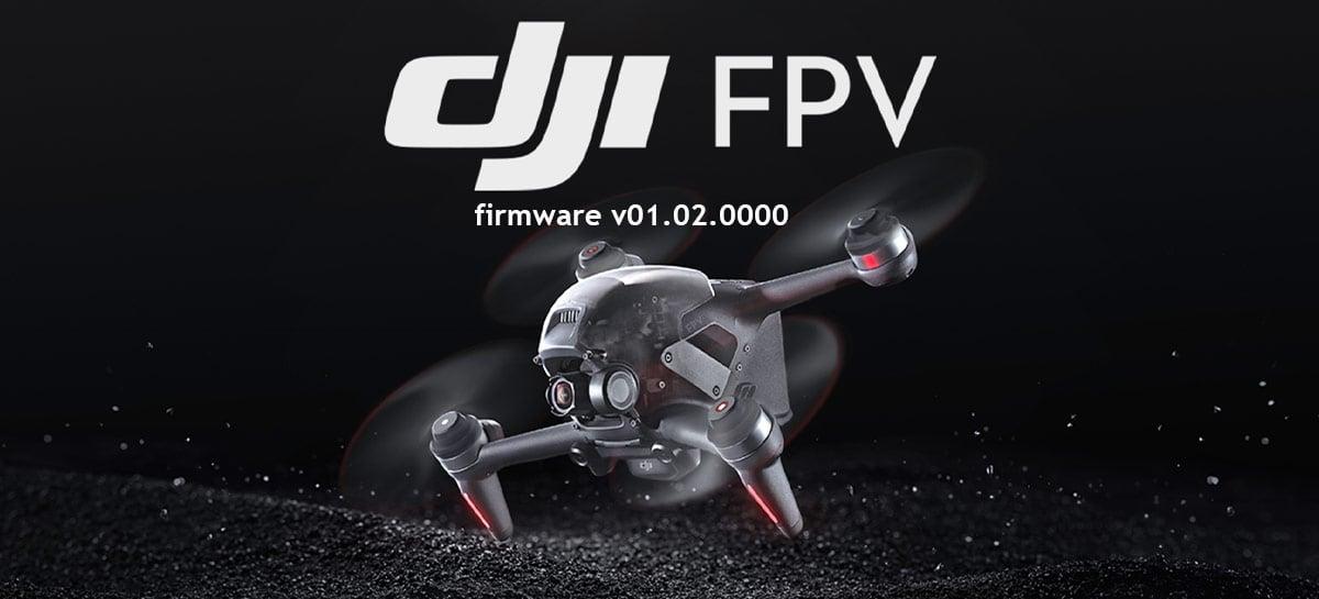 DJI FPV Drone ganha atualização de firmware v01.02.0000 com várias novidades