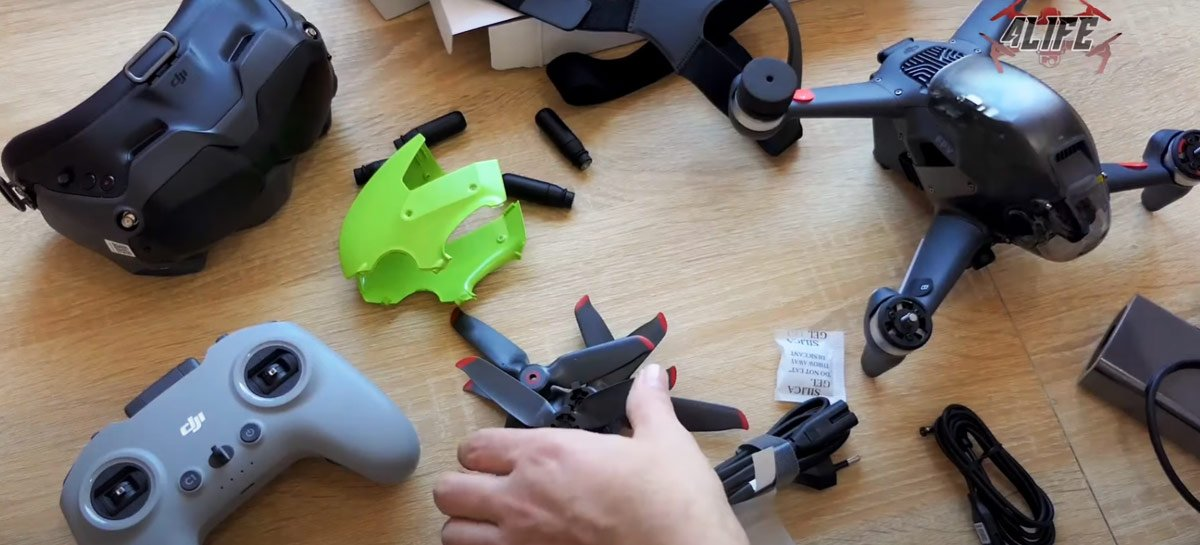 Unboxing do DJI FPV Combo confirma que drone usará app DJI Fly