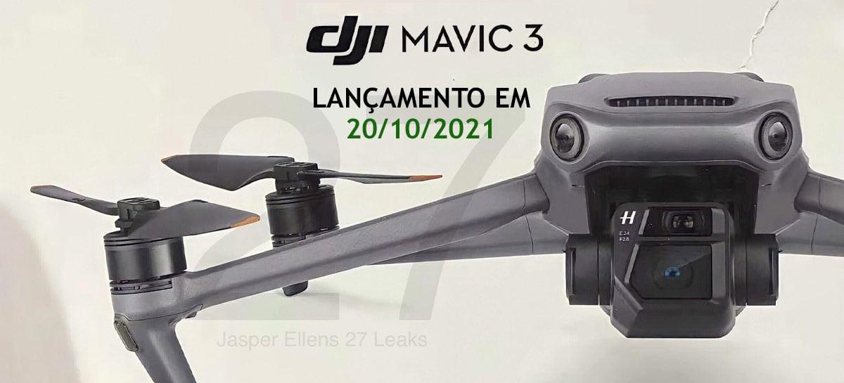 Drone DJI Mavic 3 pode ser lançado dia 20 de outubro de acordo com site [+UPDATE]