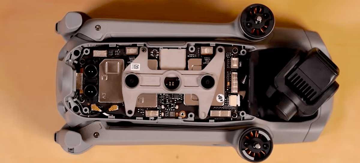 Drone DJI Mavic Air 2 se sai bem em teste de reparabilidade - Veja ele por dentro