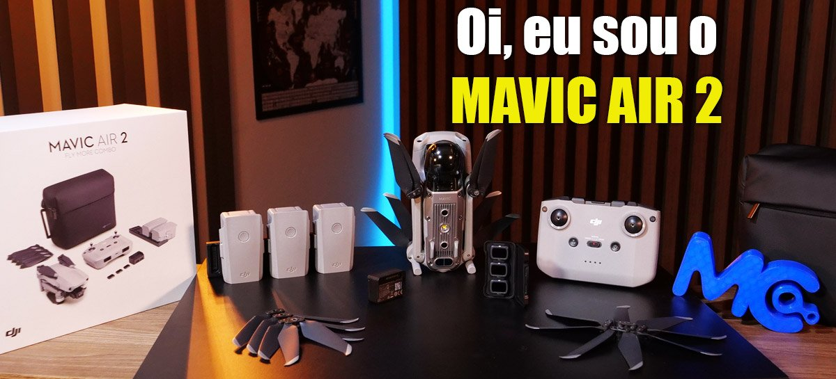 Unboxing do Mavic Air 2, novo drone SENSAÇÃO da DJI