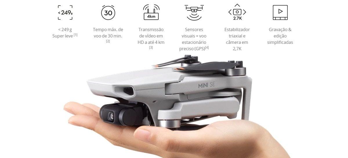 Drone DJI Mini SE é lançado mundialmente por US$299, o modelo mais barato da DJI