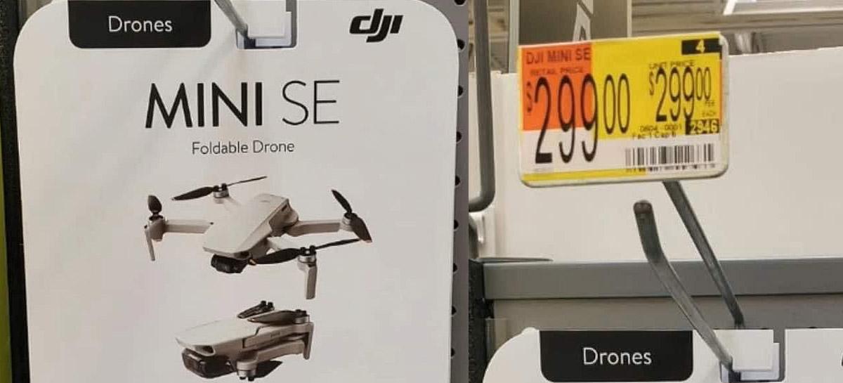 Drone DJI MINI SE aparece em anúncio online custando apenas US$299 dólares