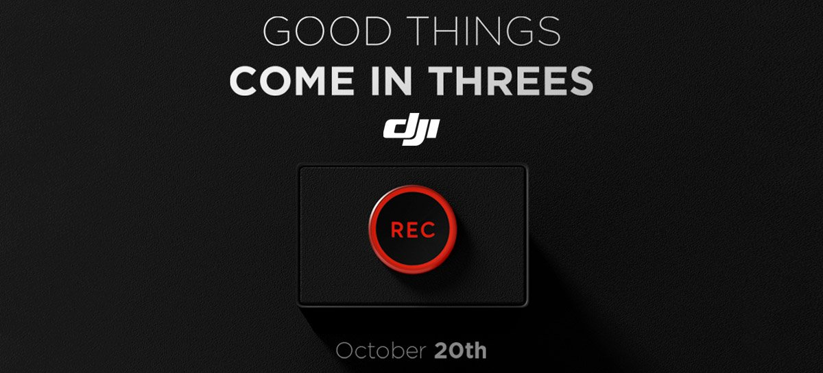 Good Things Come in Threes - DJI marca três anúncios em sequência, Mavic 3 é um deles