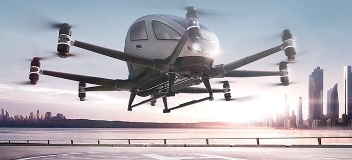 Drone de passageiros da EHang completou seu teste sem piloto no Japão