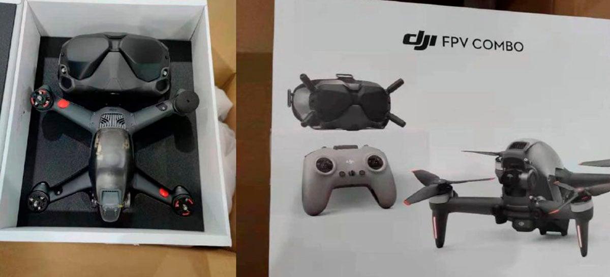 Kit completo DJI FPV DRONE é confirmado em processo de certificação da FCC