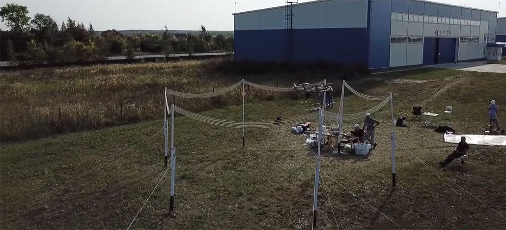 Sistema de recarga sem fio fornece energia ao drone durante o voo