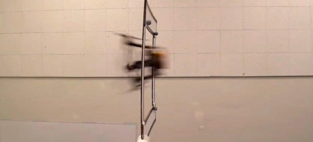 Drone articulado dobra os braços para passar por espaços pequenos