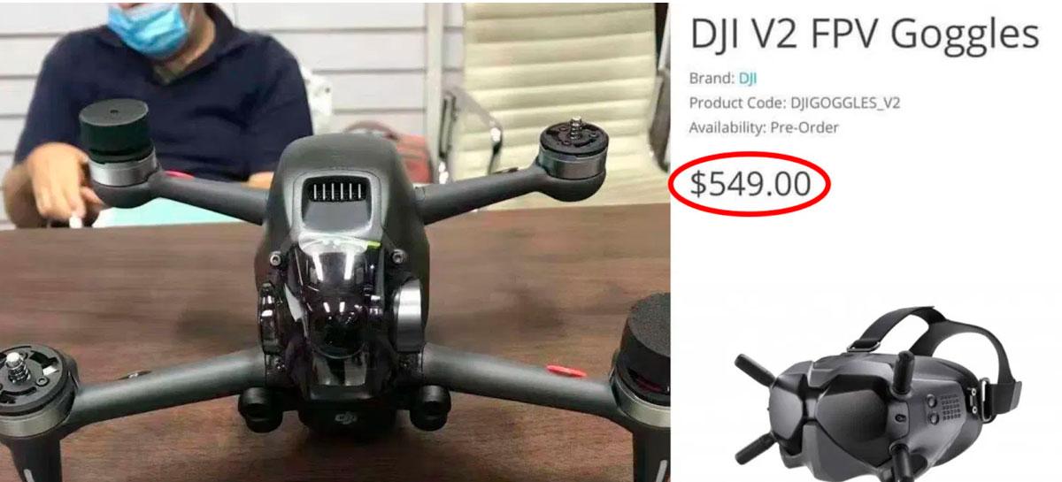 DJI FPV Goggles V2 pode chegar dia 8 de janeiro por US$549 junto com FPV Drone