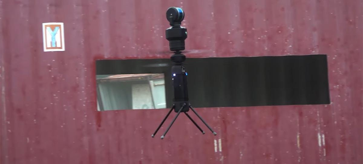Drone em forma de cilindro para uso comercial ganha sensor lidar