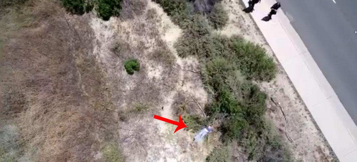 Drone policial encontra mulher desaparecida nos Estados Unidos