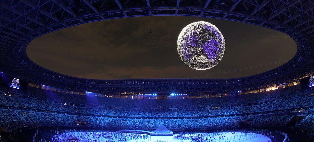 Abertura das Olimpíadas de Tóquio tem show espetacular com 1800 drones; veja