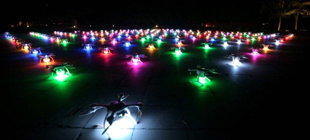 Conheça os incríveis shows de luzes feitos por drones que acontecem na China