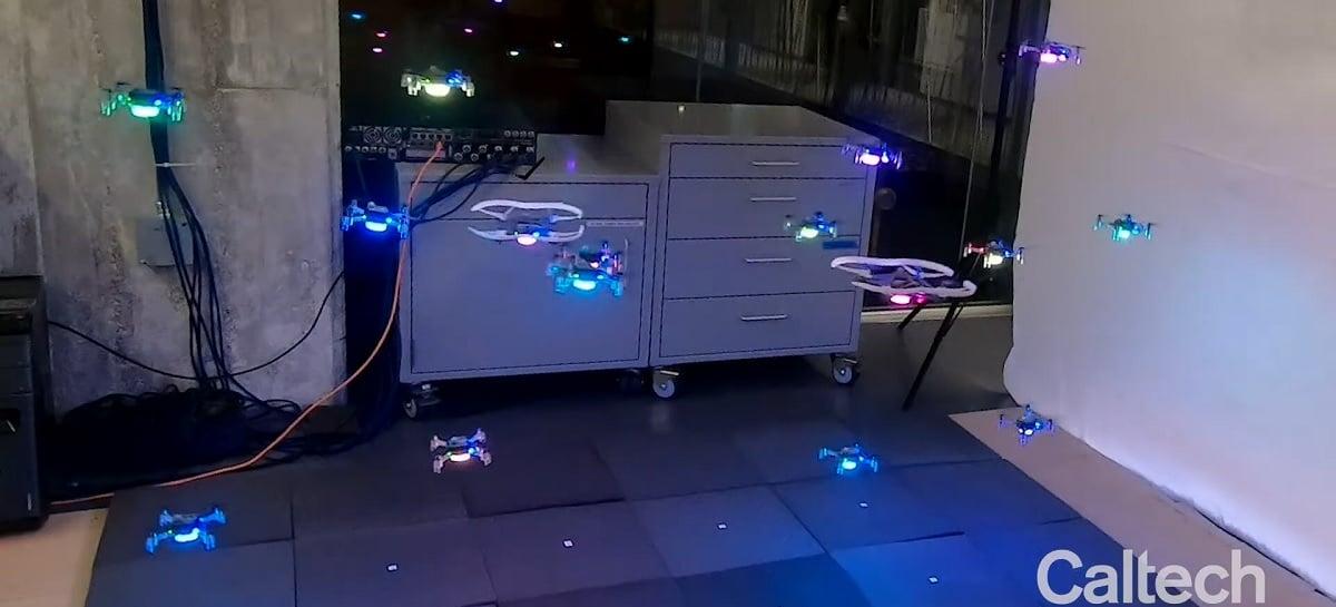 Drones não colidem entre si graças ao aprendizado de máquina: VEJA VÍDEO!
