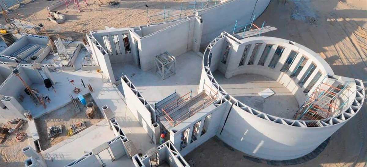 Primeiro escritório do mundo feito totalmente por impressora 3D fica em Dubai