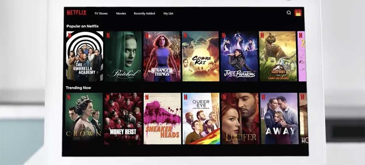 Novo Amazon Echo Show 10 vai transmitir conteúdos da Netflix