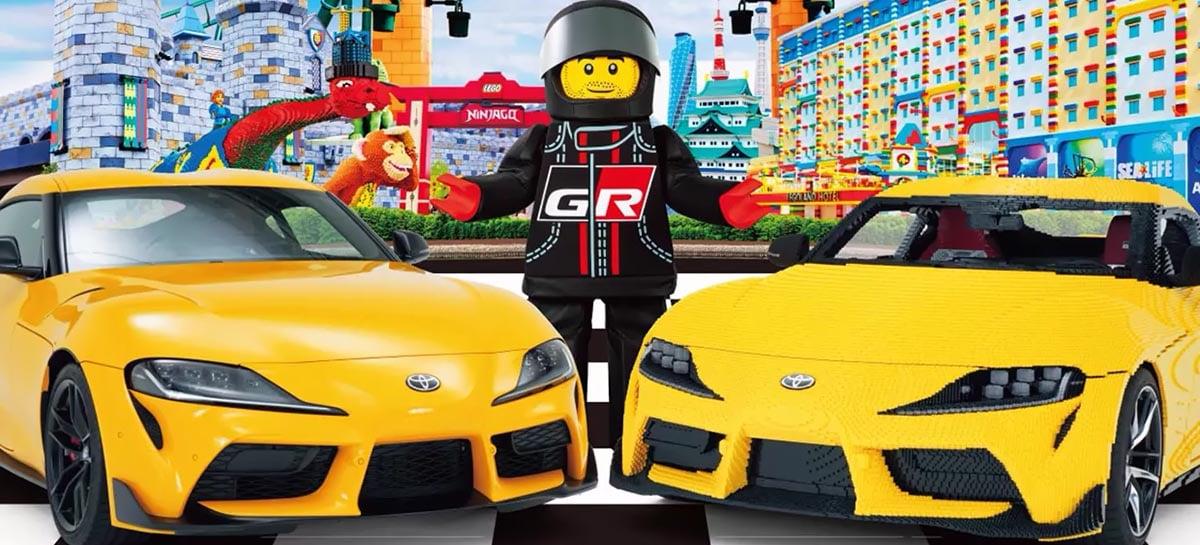Esse Toyota Supra feito com meio milhão de peças LEGO vai deixar você impressionado