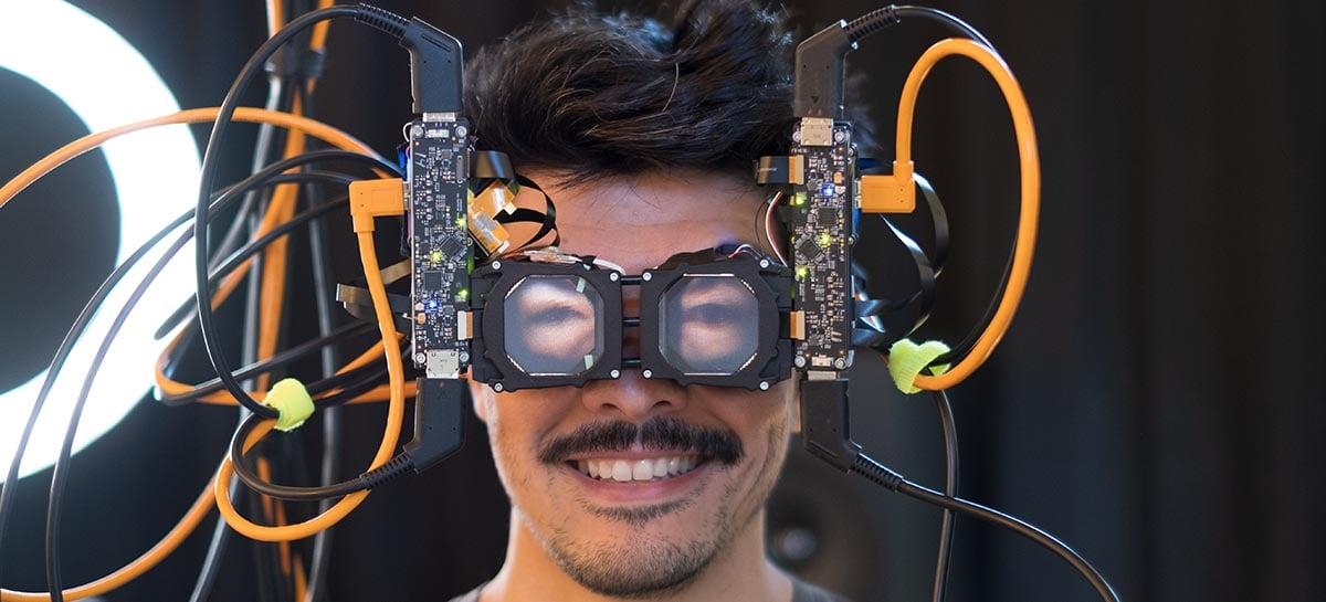 Facebook faz protótipo de óculos de VR com projeção dos olhos