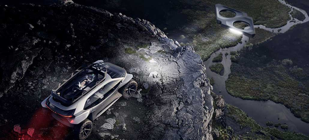 AI: Trail é o carro conceito da Audi que utiliza drones como faróis