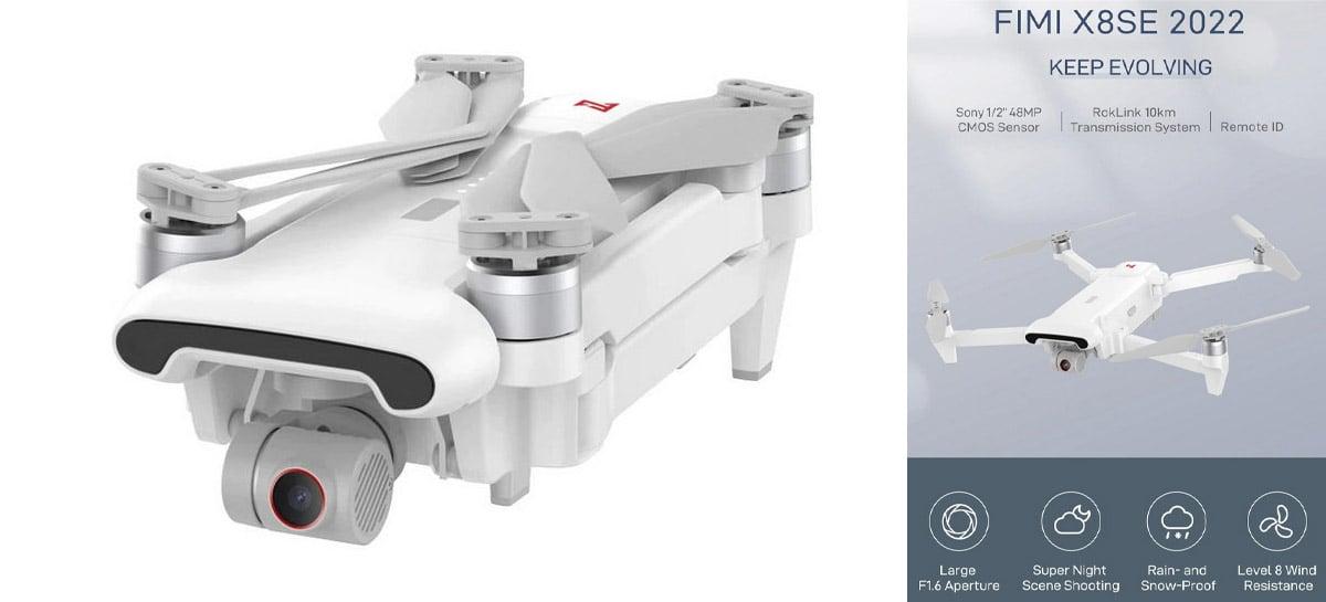 Drone FIMI X8SE 2022: Câmera 4K, 48MP, 10Km de distância + 35 minutos de voo por US$399