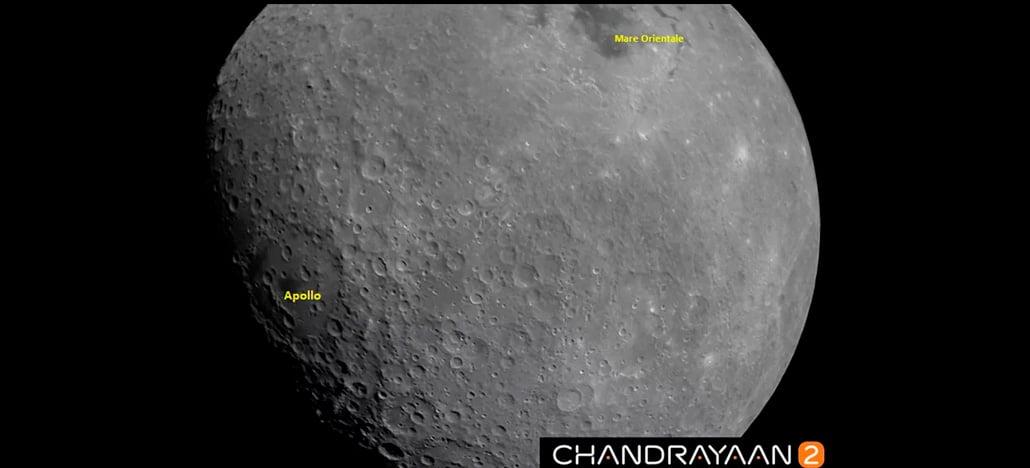 Nave espacial indiana registra bela foto da lua durante missão