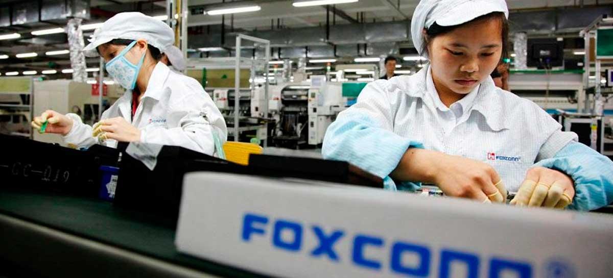 Lucro da Foxconn, que fabrica para Apple e outras empresas, cai 23,4%