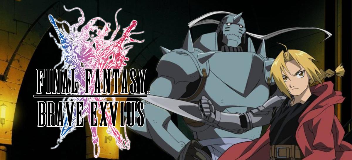 Evento de Fullmetal Alchemist  já está disponível no RPG mobile Final Fantasy Brave Exvius!
