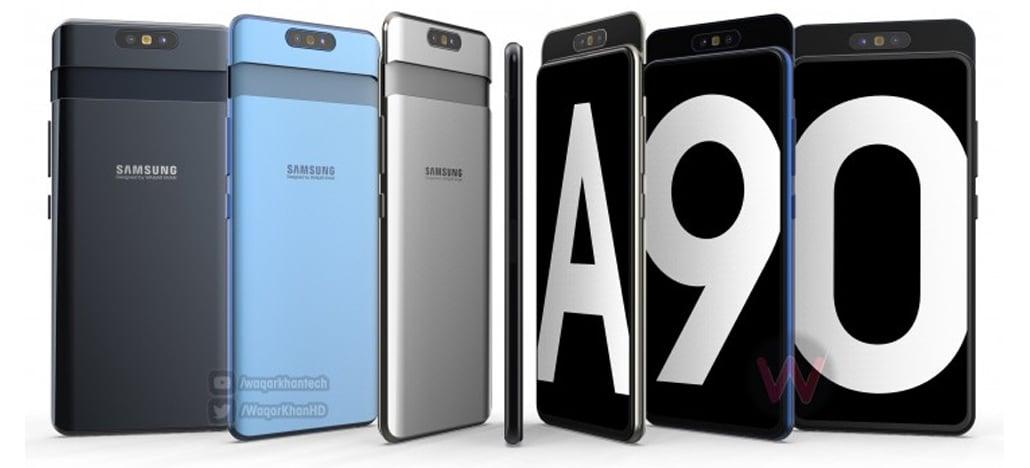 Vídeo do Samsung Galaxy A90 mostra controle deslizante com câmera rotativa