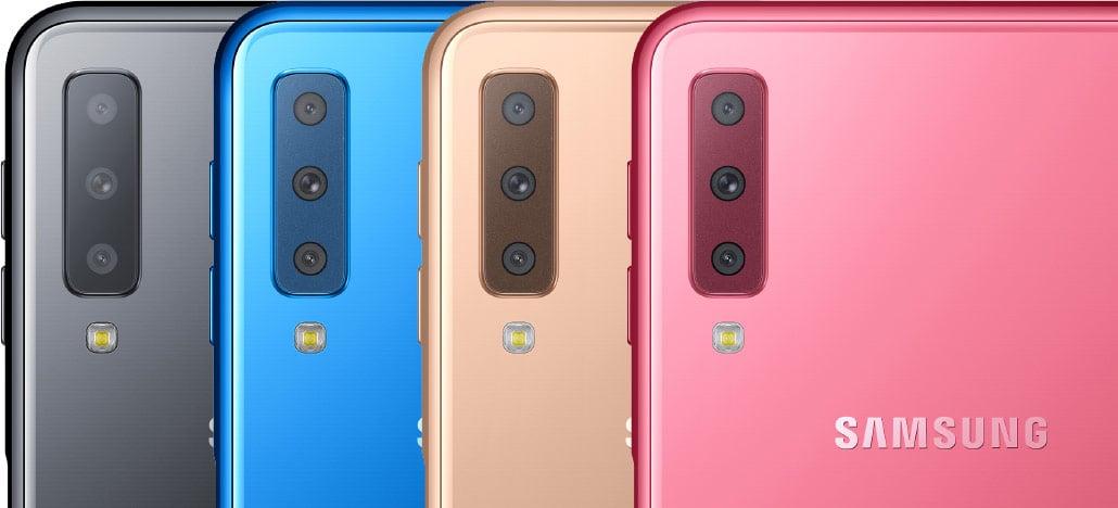 Samsung anuncia Galaxy A7 com câmera tripla e processador octa-core