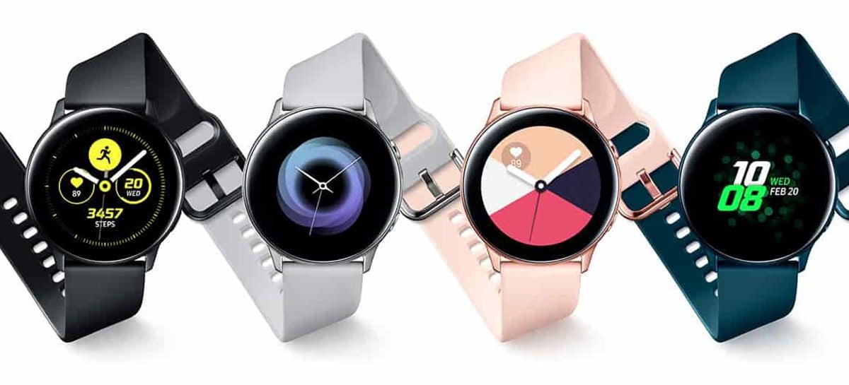 Novo vazamento do Galaxy Watch Active 4 lista specs do relógio