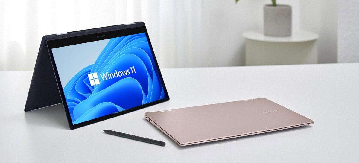 Próximos Galaxy Book já vêm com Windows 11, revela Samsung