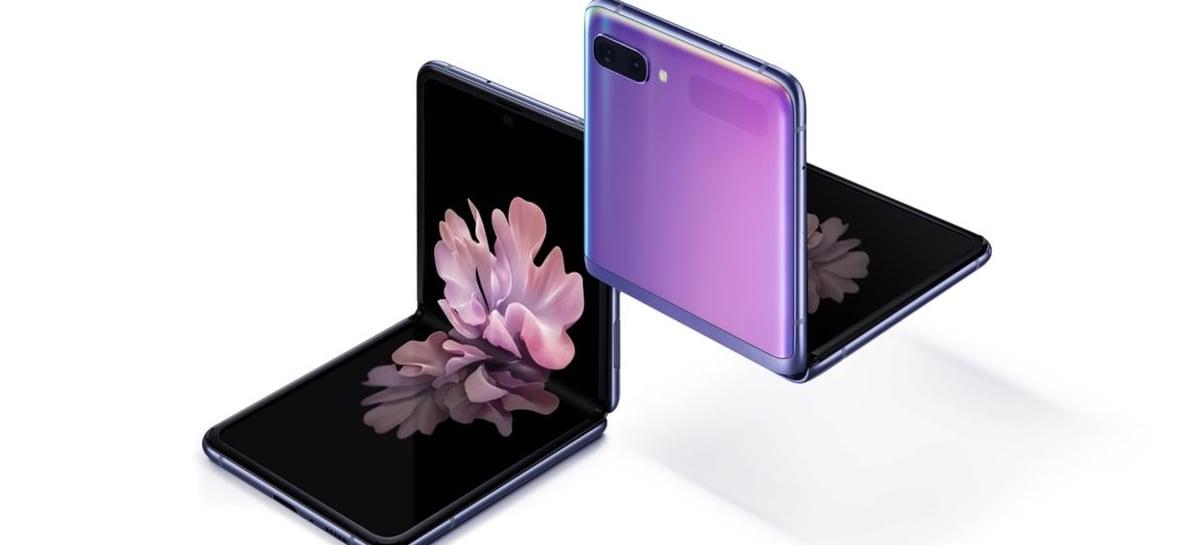 Celular dobrável Galaxy Z Flip da Samsung chega por US$ 1.380 com Snapdragon 855+