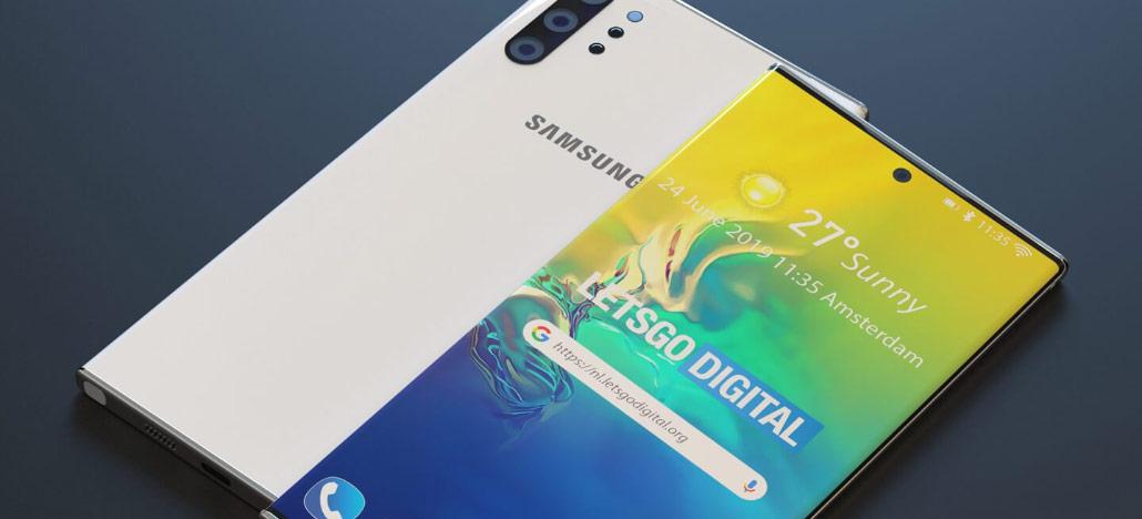 Novo vazamento do Galaxy Note 10 5G revela posicionamento das antenas do celular