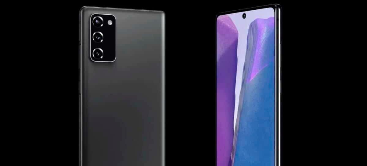 Galaxy Note 20 aparece por completo em novo vídeo não oficial