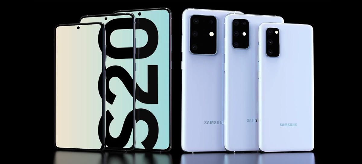 Linha Galaxy S20 tem todas as especificações vazadas! Confira a lista!