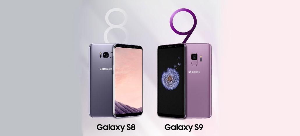 Samsung divulga infográfico comparando o Galaxy S9 e o S8