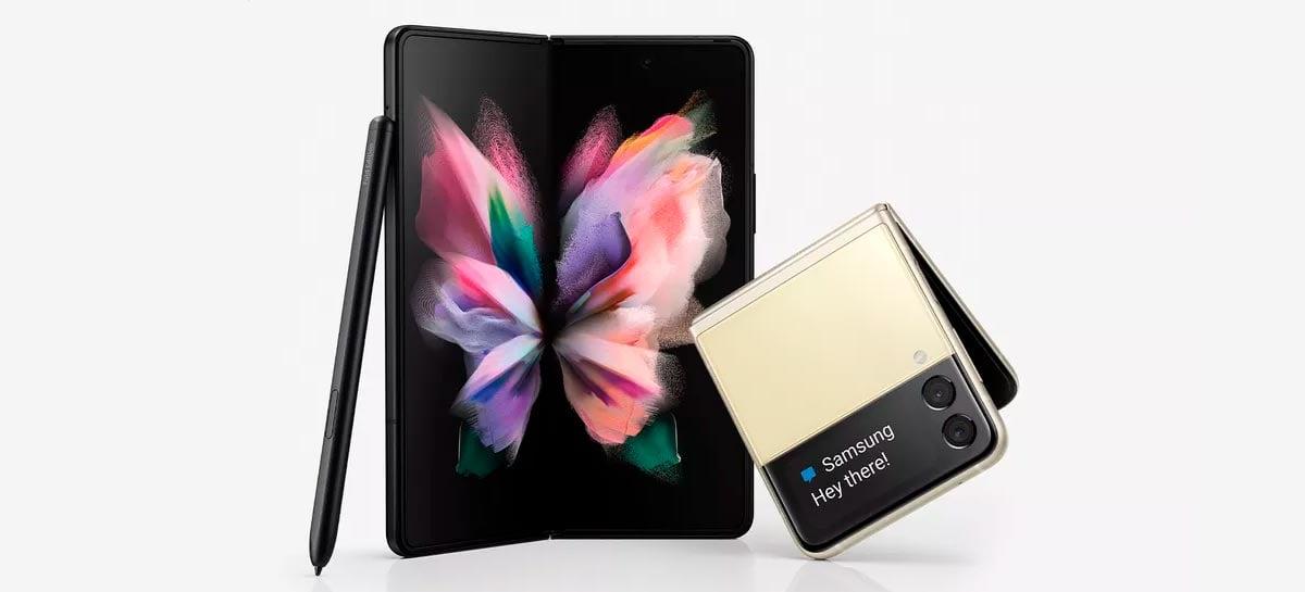 Quanto custa para consertar a tela de um Galaxy Z Fold 3 ou Z Flip 3?