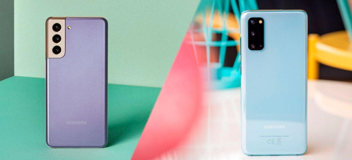 Galaxy S21 vs Galaxy S20 - O que melhorou e o que não em cada um dos modelos