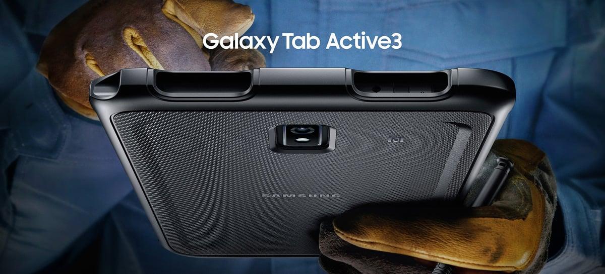 Samsung anuncia o Galaxy Tab Active3, seu novo tablet com corpo reforçado