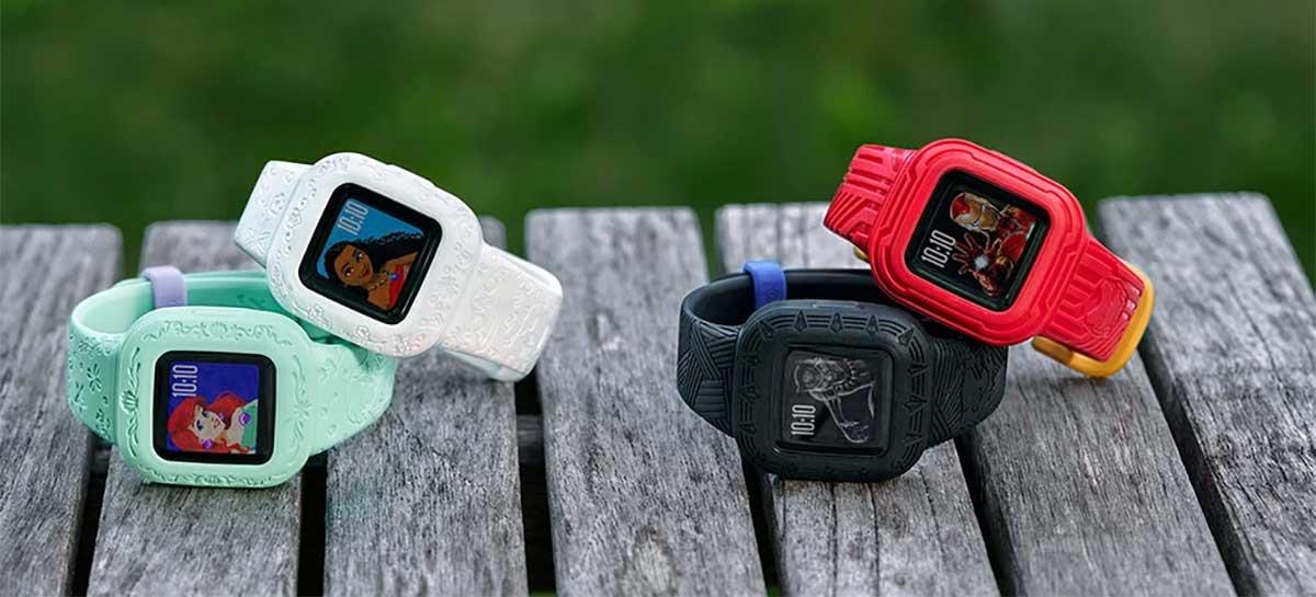 Garmin lança smartwatch infantil com tema da Disney e recurso de emergência