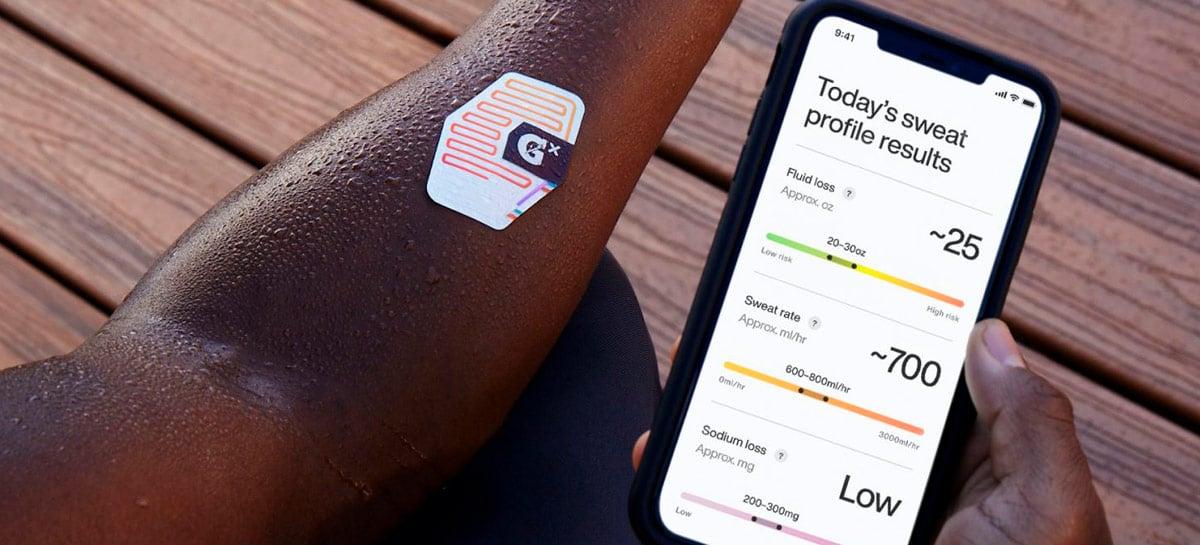 Gatorade lança adesivo inteligente Gx Sweat Patch para monitoramento do suor
