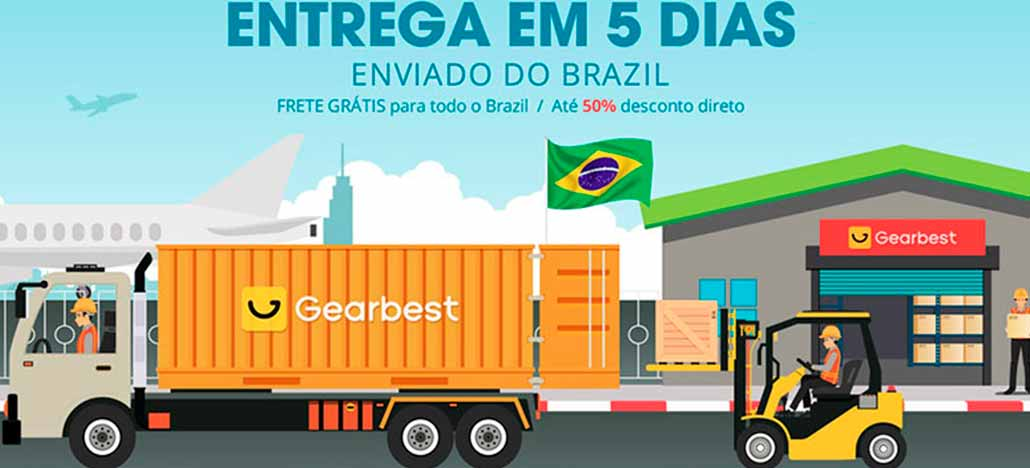 Gearbest promete entregas em cinco dias úteis com seu novo depósito no Brasil
