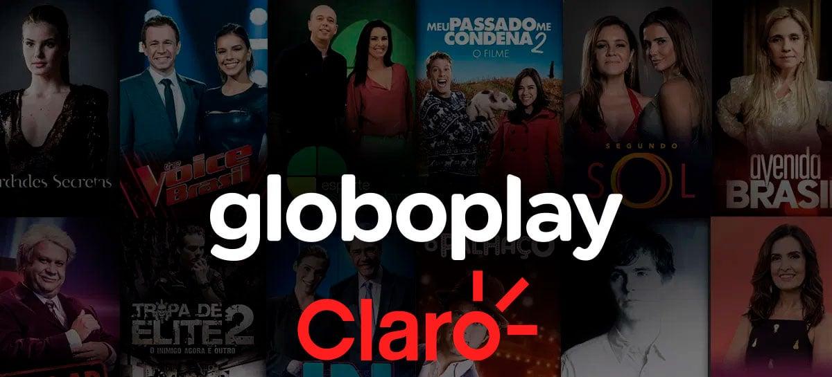 Claro está oferecendo planos com Globoplay inclusa
