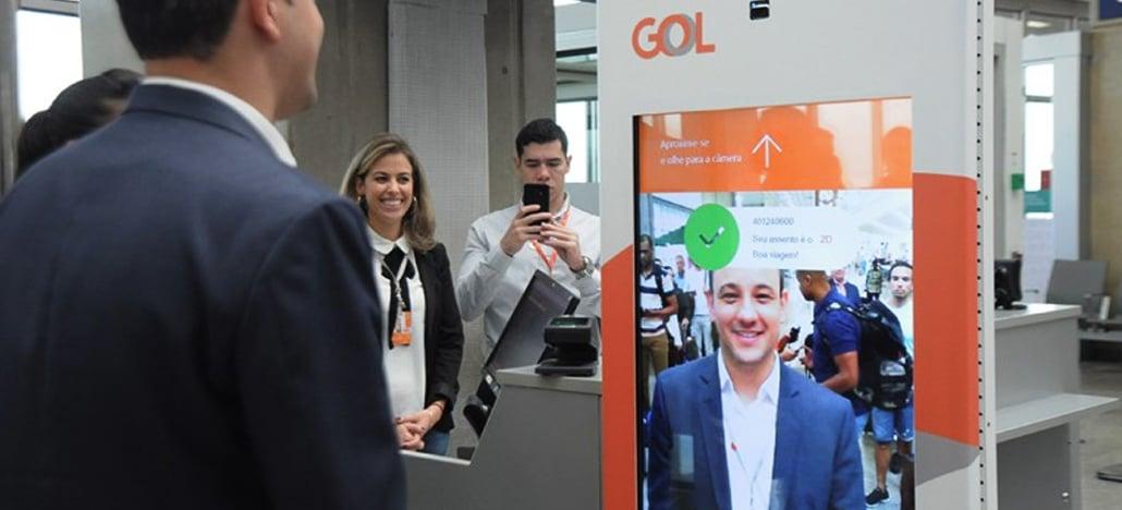 Gol é a primeira companhia aérea brasileira com serviço de embarque por biometria facial