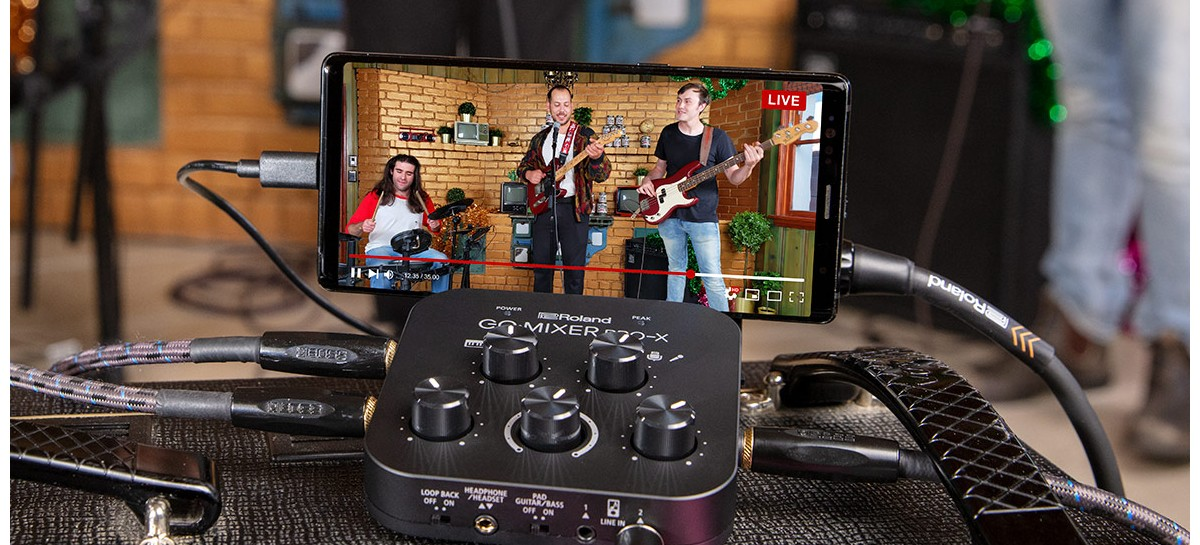 Roland Go:Mixer Pro-X é um mini estúdio para músicos ou podcasters