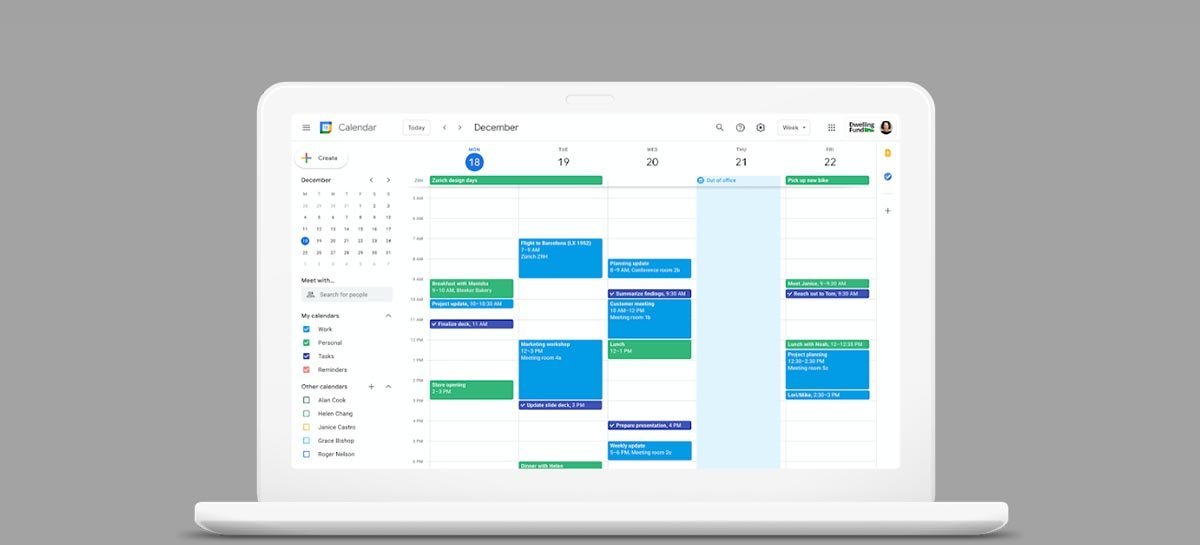 Google Agenda ganha recurso de compartilhamento de localização
