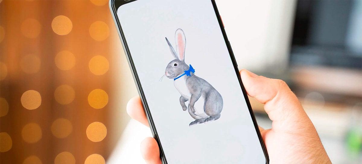 Animais em 3D da Google agora incluem também o coelho da Páscoa!