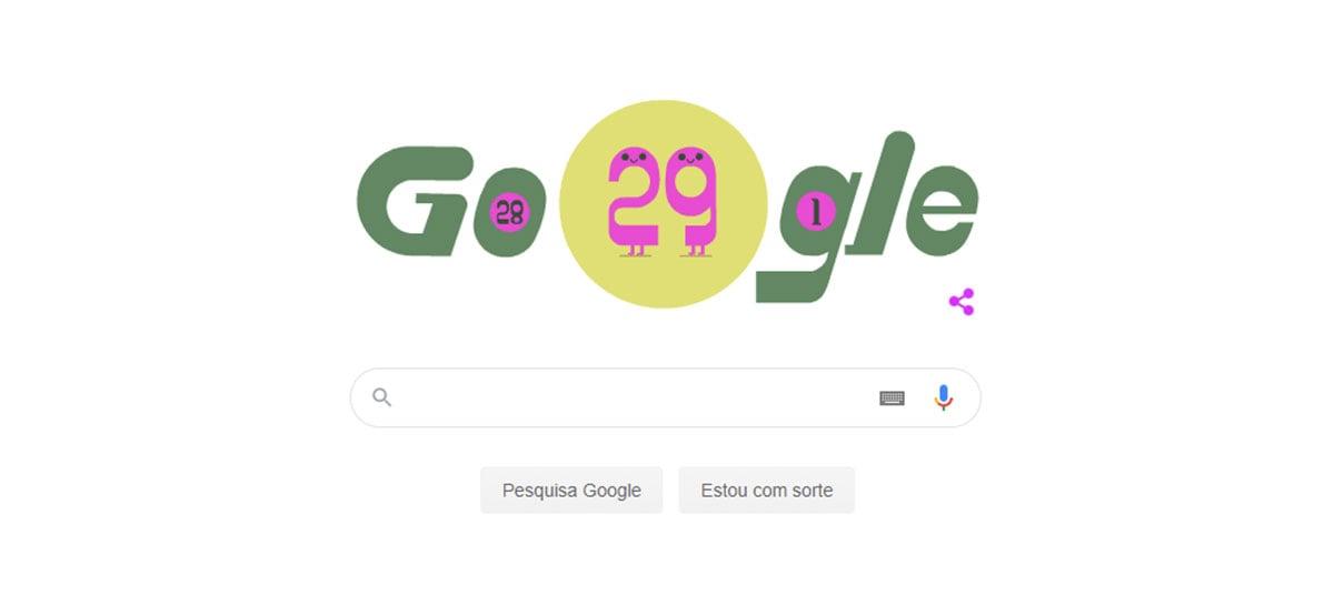 Google cria Doodle em celebração ao ano bissexto