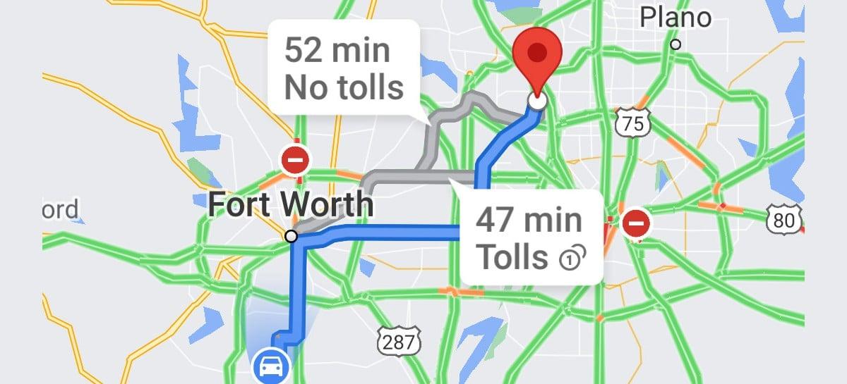 Google Maps pode adicionar preços dos pedágios em breve