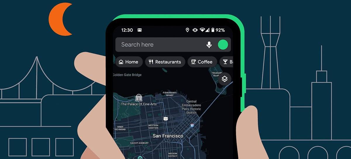 Após mais de um ano, Google Maps finalmente ganha de forma oficial o modo escuro